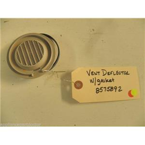 WHIRLPOOL DISHWASHER 8575892 VENT DEFLECTOR W/ GASKET USED PART ASSEMBLY