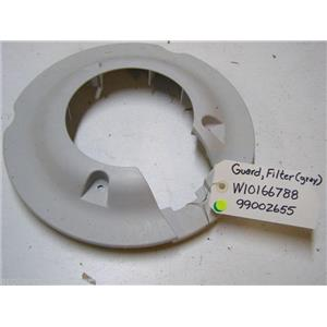 MAYTAG DISHWASHER W10166788 99002655 GRAY FILTER GUARD USED PART ASSEMBLY