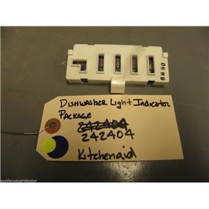KitchenAid  DISHWASHER 242404 Dishwasher Light Indicator Package  used