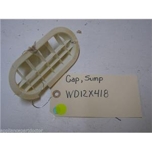 GE DISHWASHER WD12X418 SUMP CAP USED PART ASSEMBLY