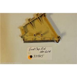 Whirlpool  Washer 371925  End cap harvest gold rh  used part
