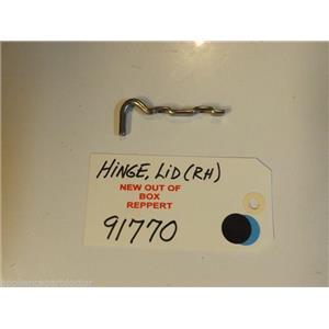 GE Washer 91770  Hinge, Lid (r.h.)   NEW W/O BOX