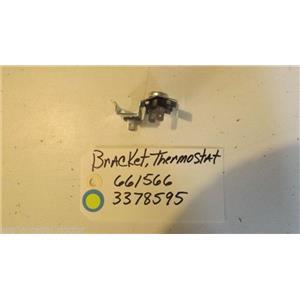 WHIRLPOOL DISHWASHER 661566  3378595  Bracket, Thermostat USED PART