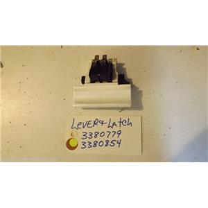KENMORE DISHWASHER 3380779  3380854  lever latch (wht)  used part
