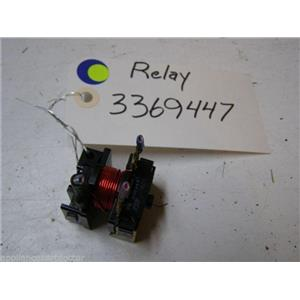 WHIRLPOOL DISHWASHER 3369447 Relay used part assembly