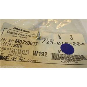 WHIRLPOOL AMANA REFRIGERATOR M0220617 Screw  NEW IN BAG