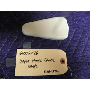 """MAYTAG REFRIGERATOR 61002076 UPPER HINGE COVER """"WHITE"""" USED PART ASSEMBLY"""