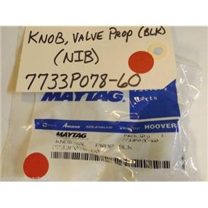 Maytag Stove  7733P078-60  Knob, Valve Prop (blk) NEW IN BOX