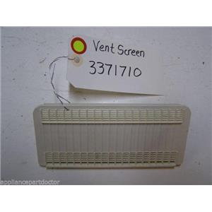 KENMORE DISHWASHER 3371710 VENT SCREEN USED PART ASSEMBLY