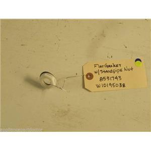 KITCHEN AID DISHWASHER 8531743 W10195038 STANDPIPE NUT W/ FLAT GASKET USED PART