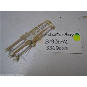 WHIRLPOOL DISHWASHER 8193646 3369055 ACTUATOR USED PART ASSEMBLY