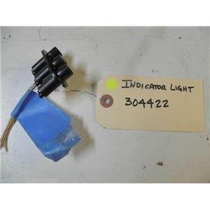 DISHWASHER 304422 INDICATOR LIGHT USED PART ASSEMBLY