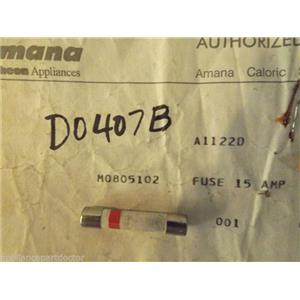 MAYTAG/AMANA & OTHERS MICROWAVE M0805102 Fuse 15 Amp  NEW IN BOX