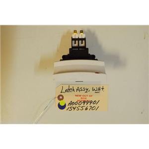 FRIGIDAIRE DISHWASHER A00099901  154556701  Latch Assy,white   NEW W/O BOX