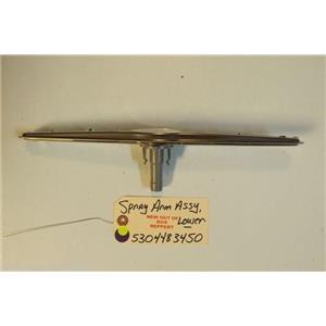FRIGIDAIRE DISHWASHER 5304483450 Spray Arm,assembly ,lower   NEW W/O BOX