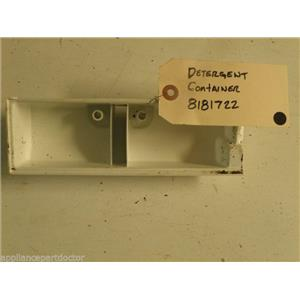 WHIRLPOOL WASHER 8181722 DETERGENT CONTAINER USED PART ASSEMBLY