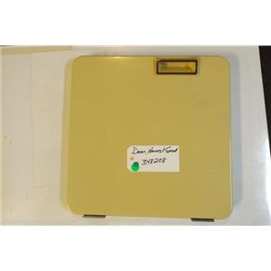 Whirlpool Dryer 348208  Door harvest gold   used part