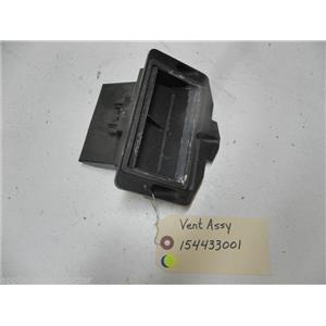 ELECTROLUX DISHWASHER 154433001 STATIC DRY VENT USED PART ASSEMBLY