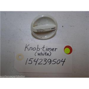 ELECTROLUX DISHWASHER 154239504 WHITE TIMER KNOB USED PART ASSEMBLY