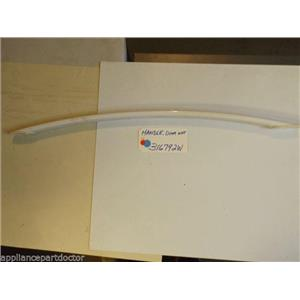 AMANA STOVE 316792W  Handle, Door (wht) SCRATCHES  part