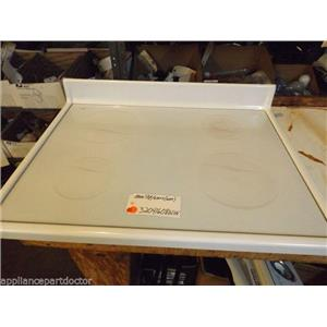 Amana STOVE 32041608WW  Main Top/glass (wht) small marks/chips   used