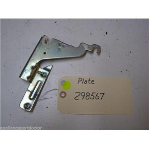BOSCH DISHWASHER 298567 PLATE USED PART ASSEMBLY