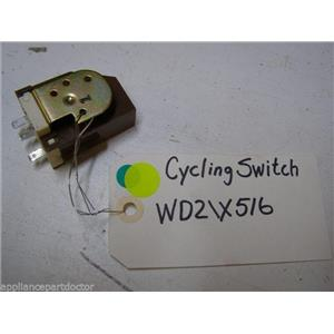 GE DISHWASHER WD21X516 CYCLING SWITCH USED PART ASSEMBLY