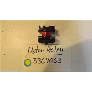WHIRLPOOL DISHWASHER 3369063   motor relay used part
