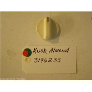 WHIRLPOOL STOVE 3196233 Knob, Infinite (almond)  used part