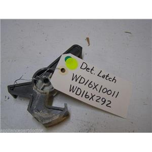 GE DISHWASHER WD16X10011 WD16X292 DETERGENT CUP LATCH USED PART ASSEMBLY