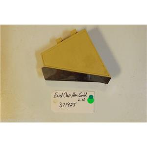 Whirlpool Dryer 371925  End cap harvest gold lh  used part