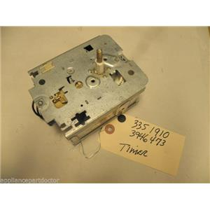 WHIRLPOOL WASHER 3351910 3946473 CONTROL TIMER USED PART ASSEMBLY