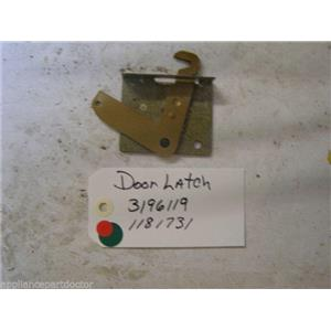 WHIRLPOOL STOVE 3196119 Latch, Door USED PART ASSEMBLY