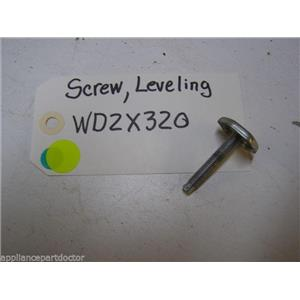 GE DISHWASHER WD2X320 LEVELING SCREW USED PART ASSEMBLY