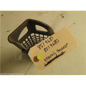 WHIRLPOOL DISHWASHER 8519702 SILVERWARE BASKET USED PART ASSEMBLY