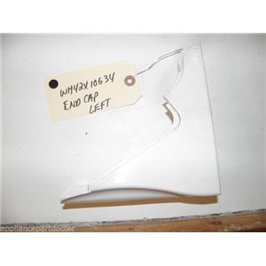 GE WASHER WH42X10634 LH WHITE ENDCAP USED PART ASSEMBLY FREE SHIPPING