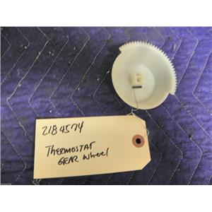 WHIRLPOOL REFRIGERATOR 2184574 THERMOSTAT GEAR WHEEL USED PART ASSEMBLY F/S