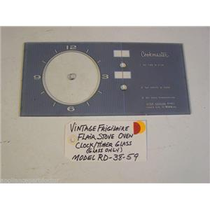 Model RD-38-59 Vintage Frigidaire Flair Stove Oven Clock/Timer Glass Glass Only