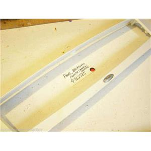 WHIRLPOOL STOVE 9762585  Panel, Backguard (white) marks, scratches  USED