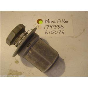 Bosch  dishwasher mesh filter 174936  615079 USED PART