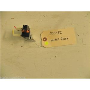 MAGIC CHEF MAYTAG DISHWASHER 903482 MOTOR RELAY USED PART ASSEMBLY F/S