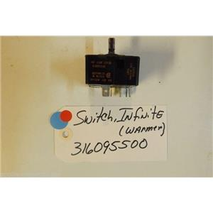FRIGIDAIRE Stove  316095500 Switch,infinite ,warmer USED PART