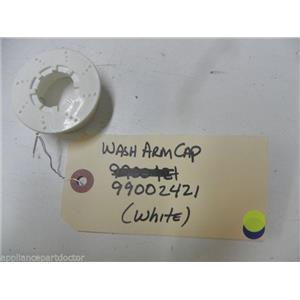 MAYTAG DISHWASHER 99002421 WHITE WASH ARM CAP USED PART ASSEMBLY