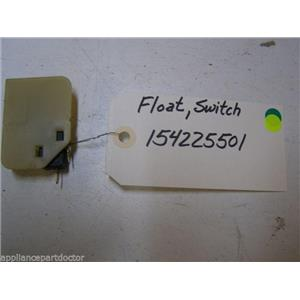 WHITE CONSOLIDATED DISHWASHER 154225501 FLOAT SWITCH USED PART ASSEMBLY