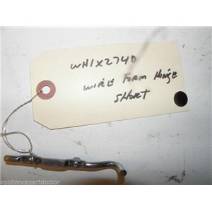 GE WASHER WH1X2740 WIREFORM HINGE SHORT USED PART ASSEMBLY FREE SHIPPING
