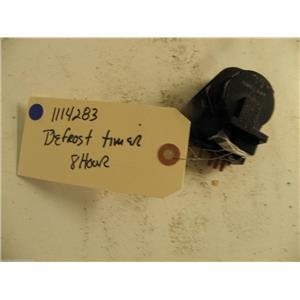 WHIRLPOOL REFRIGERATOR  1114283 DEFROST TIMER 8 HR USED PART ASSEMBLY F/S