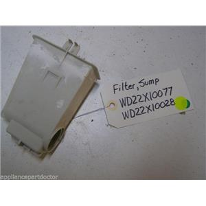 GE DISHWASHER WD22X10077 WD22X10028 SUMP FILTER USED PART ASSEMBLY