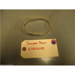 Kenmore Whirlpool Refrigerator 67001040 Belt, Damper USED