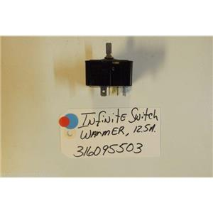 KENMORE Stove  316095503   Infinite switch  warmer 12.5 a  USED PART