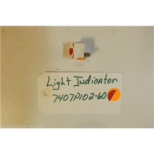 MAGIC CHEF STOVE 7407P102-60 Light, Indicator used